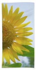 Sunflower Art Right Beach Sheet