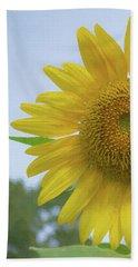 Sunflower Art Left Beach Sheet