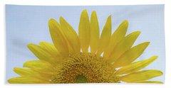Sunflower Art Top Beach Sheet