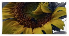 Sunflower Bee Beach Towel