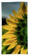 Sunflower Blooming Detailed Beach Towel