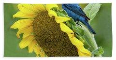 Sunflower Blue Beach Towel