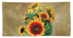 Beach Towel featuring the photograph Sunflower Bouqet by Mary Timman