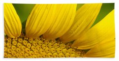 Sunflower Close Up Beach Towel