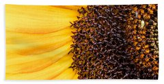 Sunflower Closeup Beach Sheet by Bob Orsillo