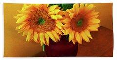 Sunflower Corner Beach Towel
