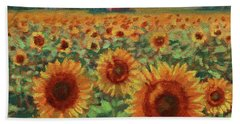 Sunflower Farm Beach Sheet