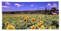 Sunflower Farm Beach Towel