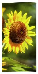 Beach Towel featuring the photograph Sunflower Field by Christina Rollo