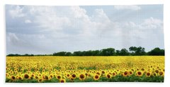Sunflower Field Beach Sheet