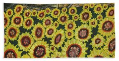 Sunflower Fields  Forever Beach Sheet