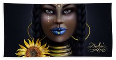 Sunflower Goddess  Beach Towel