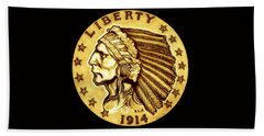 Sunflower Gold Quarter Eagle Beach Towel