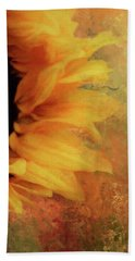 Sunflower Impression Beach Towel