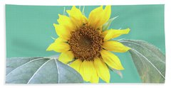 Sunflower In The Summer Time Beach Towel