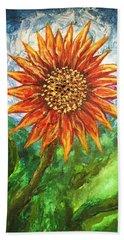 Sunflower Joy Beach Sheet