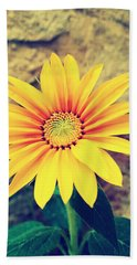 Beach Towel featuring the photograph Sunflower by Lucia Sirna
