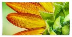 Sunflower Macro 1 Beach Towel