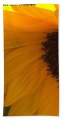 Sunflower Macro Beach Sheet