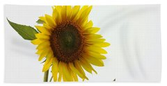 Sunflower Minimal Beach Sheet by Joseph Skompski