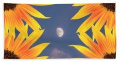 Sunflower Moon Beach Towel