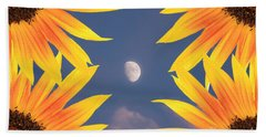Sunflower Moon Beach Towel
