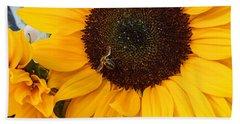 Sunflower Of France Beach Towel