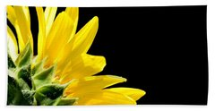 Sunflower On Black Beach Towel