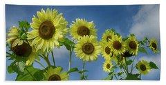 Sunflower Party Beach Towel