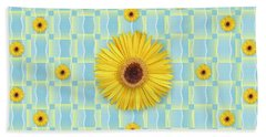 Sunflower Pattern Beach Towel