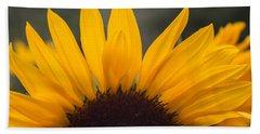 Sunflower Petals Beach Towel