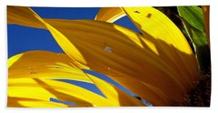 Sunflower Shadows Beach Towel