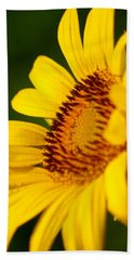 Sunflower Side Light Beach Towel