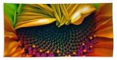 Sunflower Smoothie Beach Sheet