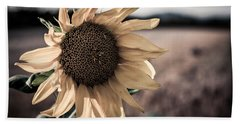 Sunflower Solitude Beach Towel