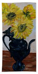 Sunflower Still Life Beach Towel