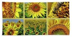 Sunflower Story - Collage Beach Sheet