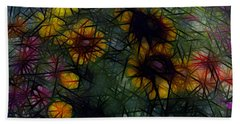 Sunflower Streaks Beach Towel