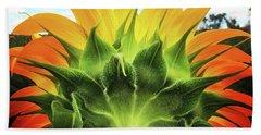 Sunflower Sunburst Beach Towel