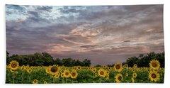 Sunflower Sunrise Beach Towel