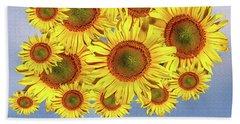 Sunflower Tree Beach Towel