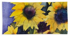 Sunflowers 17 Beach Sheet