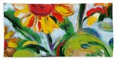 Sunflowers 9 Beach Sheet