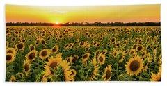 Sunflowers At Sunset Beach Sheet