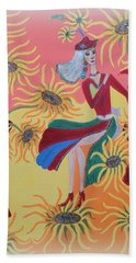 Sunflower's Contessa  Beach Towel