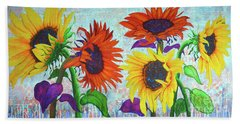 Sunflowers For Elise Beach Sheet