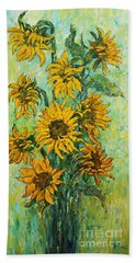 Sunflowers For This Summer Beach Sheet