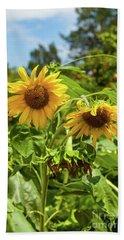 Sunflowers In Sunshine Beach Towel