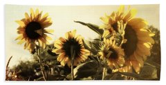 Beach Towel featuring the photograph Sunflowers In Tone by Glenn McCarthy Art and Photography
