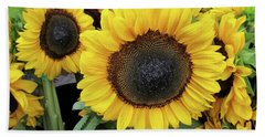 Beach Sheet featuring the photograph Sunflowers by Melinda Saminski